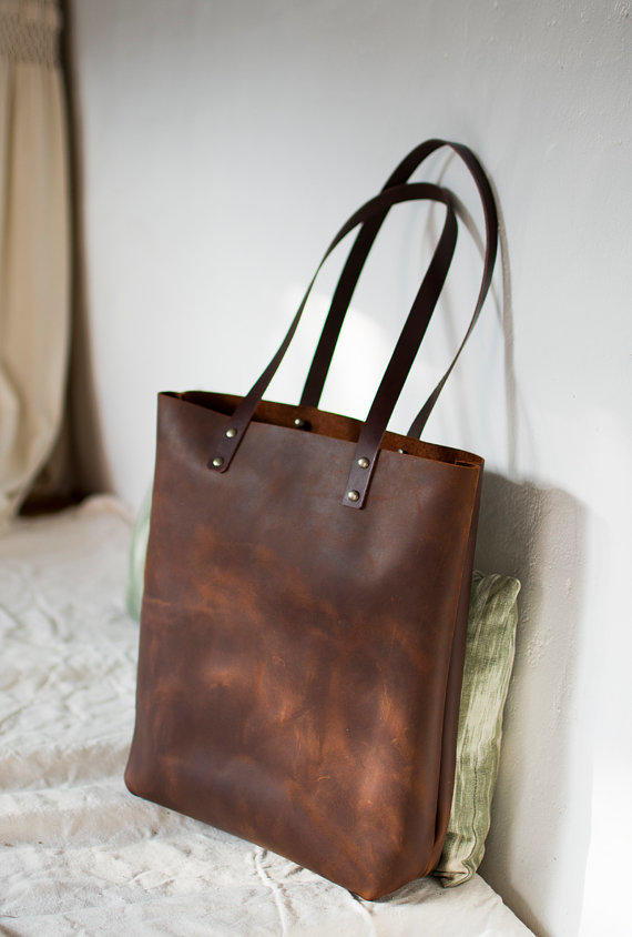 Brown Distressed Leather Bag Quot Illa From Vermutatelier