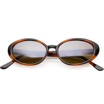 Women's Retro True Vintage Round Oval Mirrored Lens Sunglasses C654