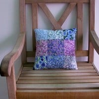 Throw Pillow Wildflower Handmade Ready to Ship One of a Kind