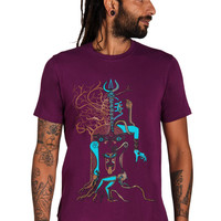 Kali shirt - Shiva Kali art T shirt - Tribal shirt- All seeing Eye Shirt- Dark Art- Dark Fashion- Trance Clothing- Psychedelic men Shirt