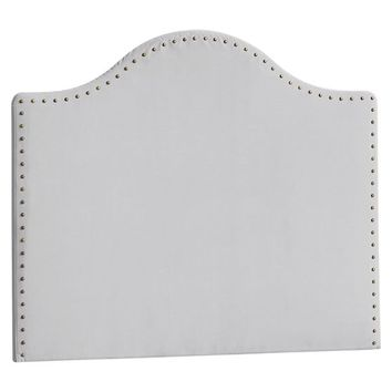 No Nails Slipcovered Nailhead Headboard