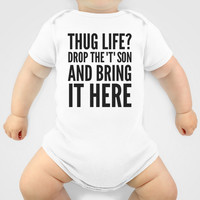 Thug Life or a Hug? Onesuit by CreativeAngel | Society6