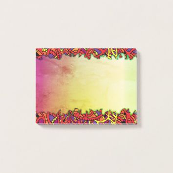 Colorful Organic Pattern Post-it Notes