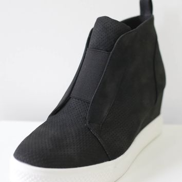 Jessi Sneaker Wedges - Black