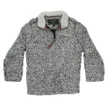 CHILD'S Frosty Tip 1/4 Zip Pullover in Charcoal by True Grit - FINAL SALE