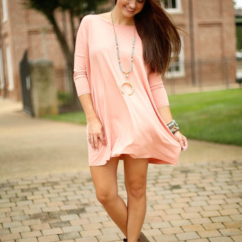 Piko dress 3/4 sleeve - Nude