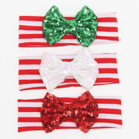 Holiday Sequin Bow Headbands