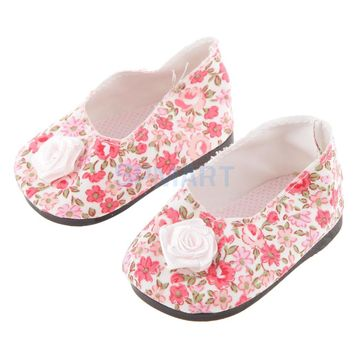 Fashion Princess Flat Bow Shoes For 18 Inch American Girl Doll Clothes Accessories