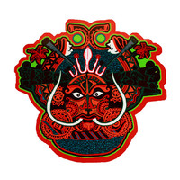 Magnet-Fridge Magnet-Tribal Magnet-Art Magnet-Indian Art Magnet-Mask magnet-African art peint-Theyyam magnet-Home decor-Trippy Magnets