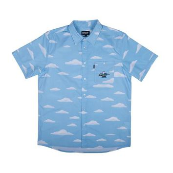 Clouds S/S Button Up (Light Blue) | RIPNDIP
