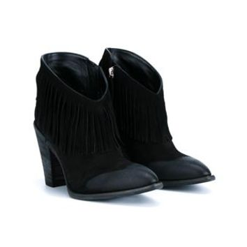GIUSEPPE ZANOTTI   Fringed Suede Booties   brownsfashion.com   The Finest Edit of Luxury Fashion   Clothes, Shoes, Bags and Accessories for Men & Women