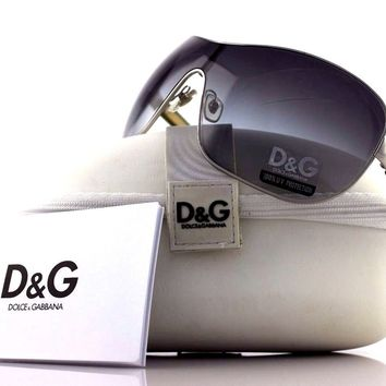 RARE Authentic D&G Dolce & Gabbana Silver Purple Green Sunglasses DG 6053 422/8G