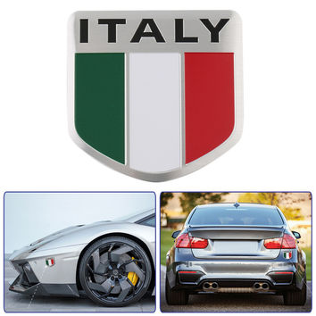 2017 New Auto Alloy Metal 3D Emblem Badge Racing Sports Decals Car Sticker for ITALY Italian Flag Car Styling Car Accessories