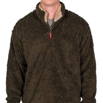 Appalachian Pile Pullover 1/4 Zip in Stone Brown by Southern Marsh - FINAL SALE