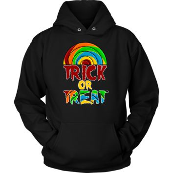 Halloween Trick or Treat Rainbow Colored Costume Hoodie