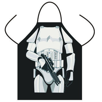 Cooking Apron Funny STAR WARS Aprons Black/ White Warrior Aprons Men Women Cooking Party Bibs  Carth Vader/ Storm Trooper aprons