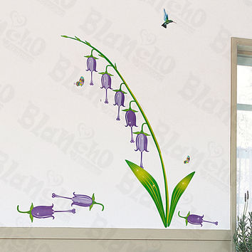 Purple Lily Valley - Medium Wall Decals Stickers Appliques Home Decor