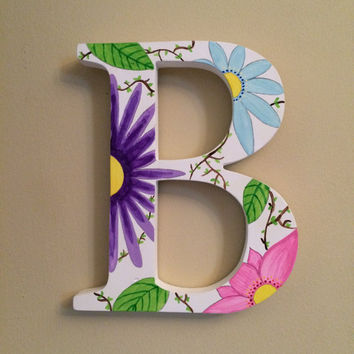 Hand-painted Wooden Initial