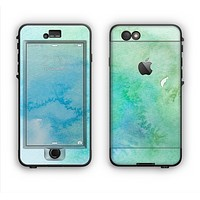 The Subtle Green & Blue Watercolor Apple iPhone 6 Plus LifeProof Nuud Case Skin Set