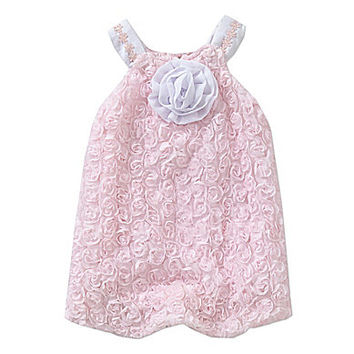 Wendy Bellissimo 3-9 Months Soutache Bubble Romper - Pink