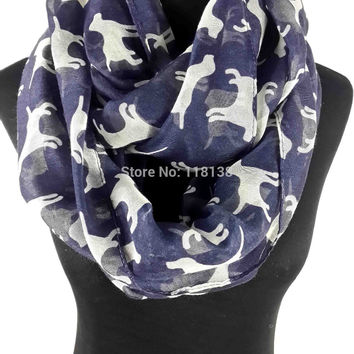 Animal Labrador Dog Print Women's Infinitiy Snood Scarf Accessories for Gift, Free Shipping