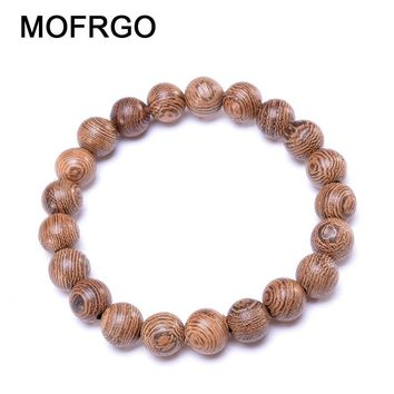 New Simple Wood Beads Bracelets Healing Balance Yoga Meditation Prayer Bracelet Natural Wood Charm Chakra Bracelet For Women Men