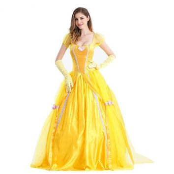 Yellow Beauty And The Beast Women Costume Dress