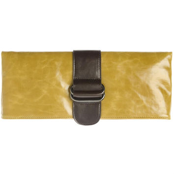 Shiraleah Harper Vegan Clutch Bold Mustard Color