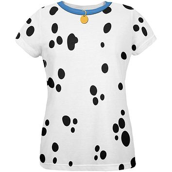 Dog Dalmatian Costume Blue Collar All Over Womens T-Shirt