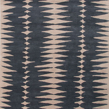 Teardrop Tribal Navy Blue Rug