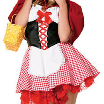 Red Halloween Costume Hoodie Mini Skater Dress Set