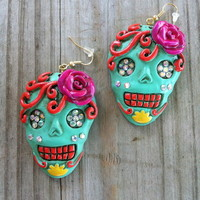 Sugar Skull earrings from PeaceLove&Jewels