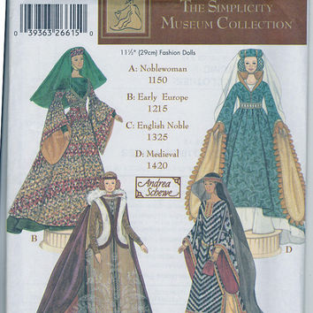 Pattern: Simplicity Museum Collection 5547  Fashion Doll Clothes