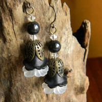 Art Deco Earrings in The Gothic Lolita Victorian Style