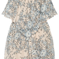 Zimmermann - Essence printed cotton and silk-blend playsuit