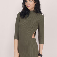 Sassy Side Bodycon Dress $42