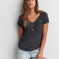 AEO Pocket T-Shirt, Grey