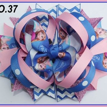 CHARACTER HAIR BOWS - FROZEN #37