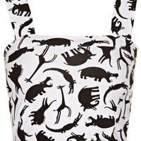 Jungle Animal Bralet - Jersey Tops  - Clothing