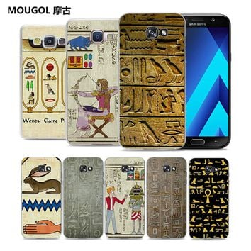 Ancient Egypt egypt hieroglyph clear transparent hard Phone Case Case for Samsung Galaxy A5 2017 A7 A8 A3 A5 2016
