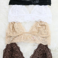 Celestial Neutral Lace Bralette Collection