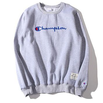 Champion Casual Embroidery Top Sweater Pullover Sweatshirt