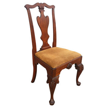 18th-C.   Queen Anne-Style Side Chair