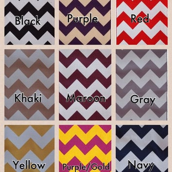 LARGE 2 Layer Uniform School Chevron Print Ribbon Hair Bow Karens Creations