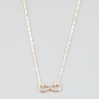 Full Tilt Dainty Infinity Necklace Gold One Size For Women 26174962101