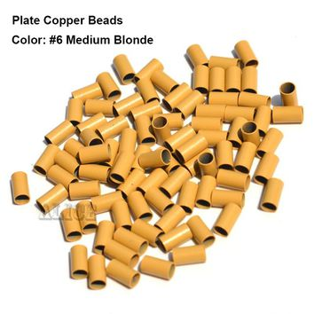 Plate Edge Copper Micro Rings 4.0*3.6*4.0mm Dreadlock Beads Hair Extension Micro Beads Micro Ring Hair Links Tools