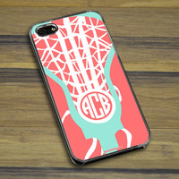 Lacrosse iPhone/Galaxy Case Monogrammed Lax Life | Lacrosse Phone Cases | Lacrosse iPhone 4/4S Cases | Lacrosse iPhone 5/5S Cases | Lacrosse Galaxy S4 Cases | Lacrosse Galaxy S5 Cases