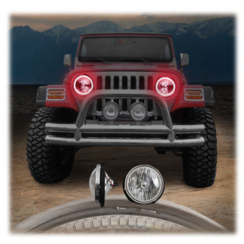 Jeep® Lights - ORACLE - OR 5503001R - ORACLE LED (SMD) Halo Kit to use with Headlights for 97-06 Jeep® Wrangler TJ and other Jeep Wrangler Parts, Jeep Accessories and Soft Tops by FORTEC