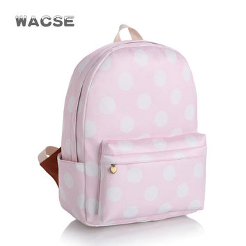 Korean Fashion Canvas Casual Stylish Pink Backpack = 4887746884