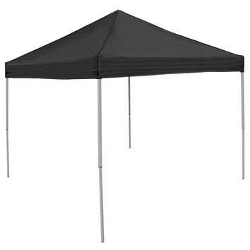 Black 9' x 9' Economy 2 Logo Pop-Up Canopy Tailgate Tent